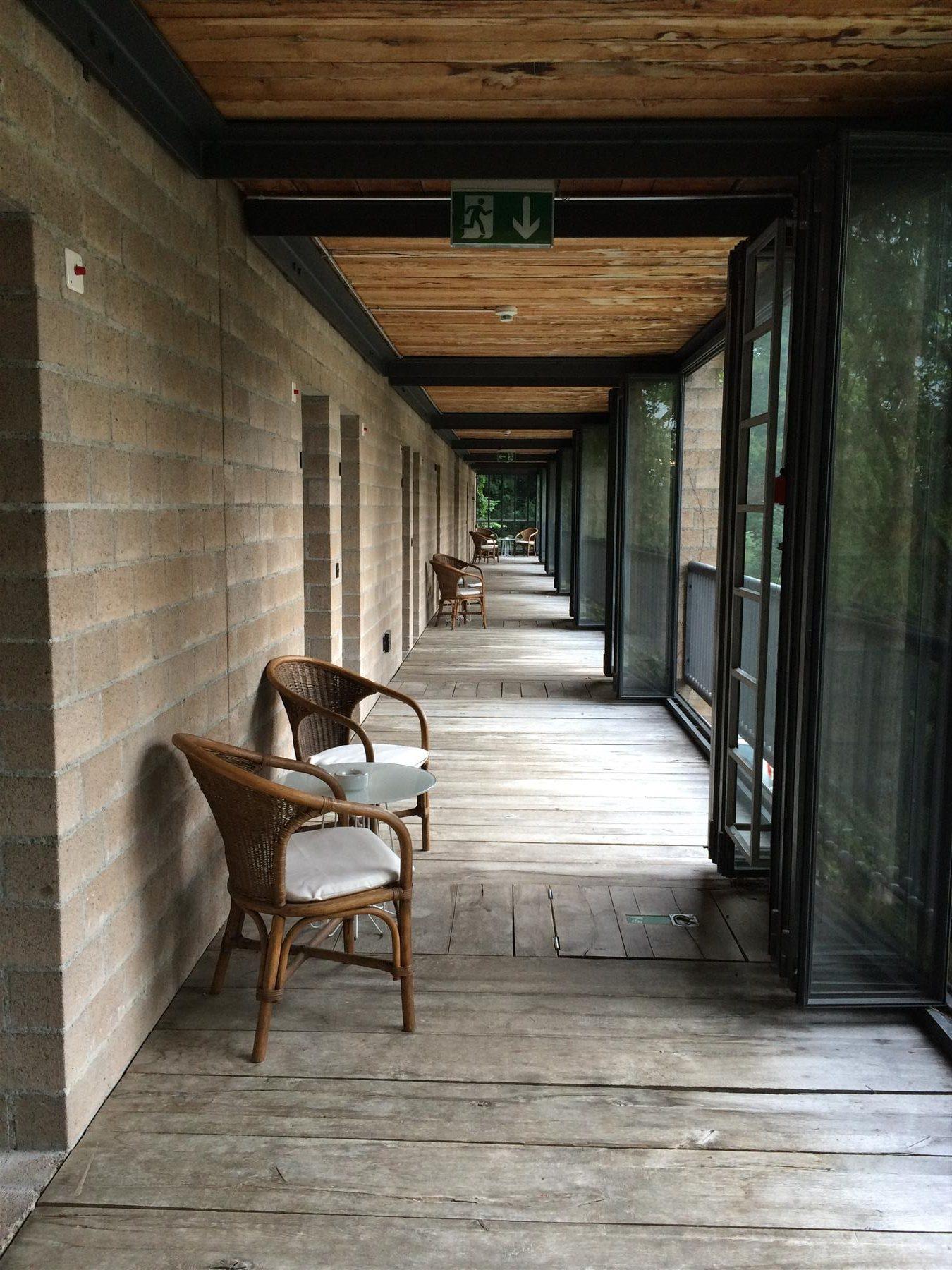 Zugang zu den Zimmern im Gästehaus